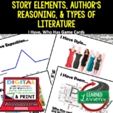 ELA Story Elements, Author's Reasoning, and Types of Literature