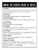 ELA Strategy Handouts: Revise vs. Edit/Close Reading/GROUPS/TPCASTT/SOAPSTone