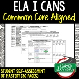 ELA I CANS Self-Assessment of Mastery Grades 6-8 Common Core Aligned