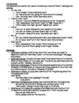 ELA Study guide (Covers language and reading standards!)
