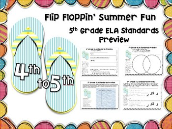 ELA Summer Packet to Prepare for 5th Grade