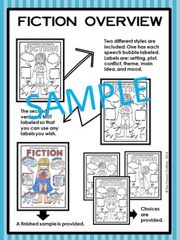 "ELA Superheroes: Fiction Story Elements (""Less Mess"" Interactive Notebook Pages)"