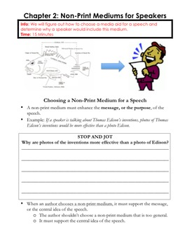 ELA: Choosing a Non-Print Medium/Media Aid for a Website/Speech