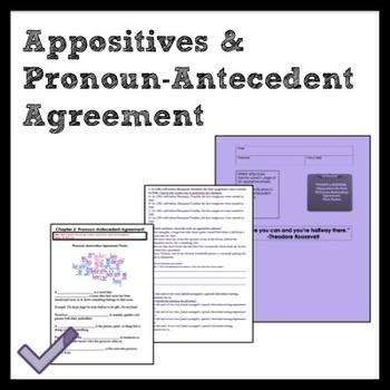 Middle School Grammar: Appositives and Pronoun/Antecedent