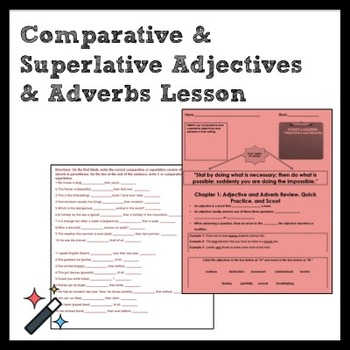 ELA Grammar: Adjectives and Adverbs Review