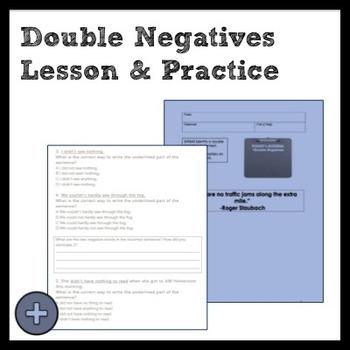 Middle School Grammar: Double Negatives