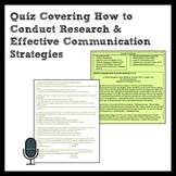 ELA Mixed Skill Quiz for Research & Communication