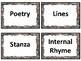5th Grade ELA TEKS Word Wall ~ Stacked Stone Design