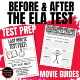 ELA TEST PREP and AFTER STATE TESTING ACTIVITIES | Literary Review with Movies