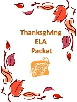 ELA THANKSGIVING packet