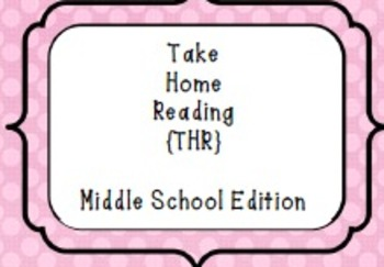 ELA Take Home Reading for Middle School Students