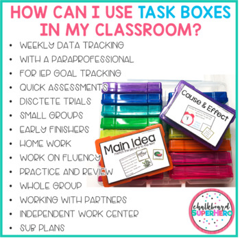 ELA Task Boxes - Primary