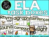 ELA Task Boxes: Set two - Primary