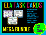 Middle School Language Arts Task Cards Bundle (20 Sets)