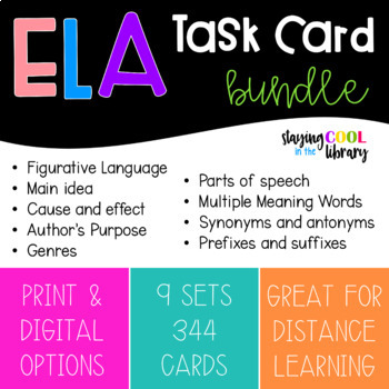 ELA Task Card Bundle - 344 Cards