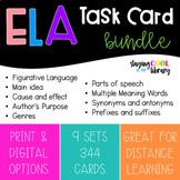 ELA Task Card Bundle - 344 Cards