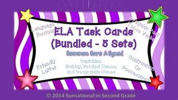 Test Prep task cards for ELA: Common Core Aligned  (Bundle