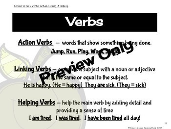 ELA Task Cards 3-Set Bundle: Nouns, Verbs, Adjectives and Adverbs