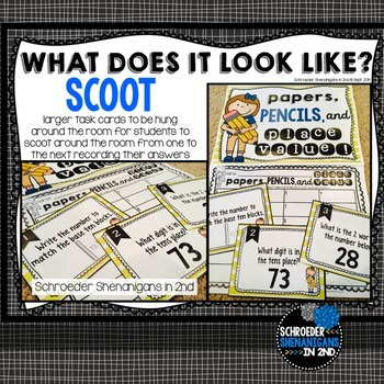 ELA Task Cards - Scoot/Scoot JR for nouns, verbs, adjectives, plurals, & more