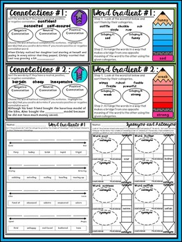 ELA Task Cards, Activities, No Prep Worksheet Freebie Pack