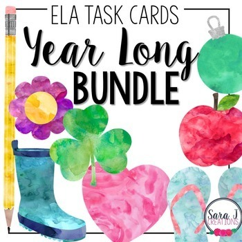 ELA Task Cards Year Long Bundle