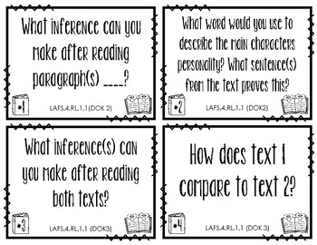 ELA Task Cards for Any Text (Fourth Grade)