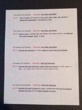 ELA Teacher Planning/Notes Sheets