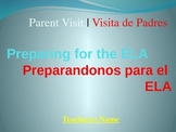 ELA Test Overview Presentation for Parent Visit in English and Spanish