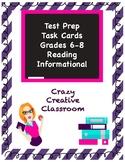 ELA Test Prep Task Cards Set 2: Reading Informational - Gr