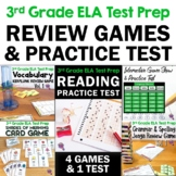 ELA Test Prep Bundle 3rd Grade: 4 Games & 1 Reading Practice Test FSA