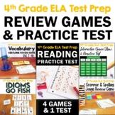 ELA Test Prep Bundle 4th Grade: 4 Games & 1 Reading Practice Test FSA