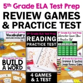 ELA Test Prep Bundle 5th Grade: 4 Games & 1 Reading Practice Test FSA