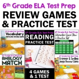 ELA Test Prep Bundle 6th Grade: 4 Games & 1 Reading Practice Test FSA