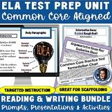 ELA Test Prep Bundle: Reading Tests, Writing Workshops, & Remediation Activities