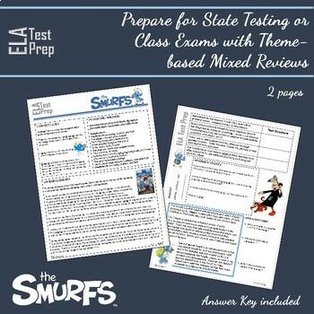 ELA Test Prep: Cartoon Bundle Mixed English Review