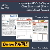 ELA Test Prep: Cartoon Bundle Mixed English Review