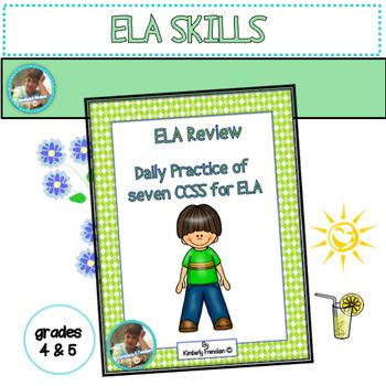 ELA Test Prep Daily Sheets