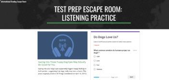 ELA Test Prep Digital Escape Room