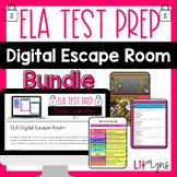 ELA Test Prep- Digital Escape Room Bundle