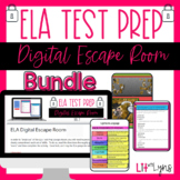 ELA Test Prep- Digital Escape Room Bundle