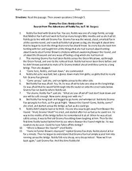 ELA Test Prep - Fiction Passages with Multiple Choice Questions