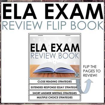 ELA Test Prep Flip Chart Review for Grades 3-8