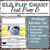 Editable ELA Test Prep Flip Chart Review for Grades 3-8