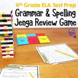 ELA Test Prep Grammar & Spelling JENGA Review Game 4th Grade VOLUME 1 FSA AIR