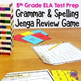 ELA Test Prep Grammar & Spelling JENGA Review Game 5th Grade VOLUME 1 FSA AIR