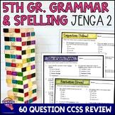 ELA Test Prep Grammar & Spelling JENGA Review Game 5th Grade VOLUME 2 FSA AIR