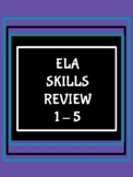 ELA Test Prep Handouts for Grades 3, 4, & 5/Oklahoma Academic Standards & CCS