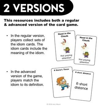 ELA Test Prep IDIOMS Go Fish Card Game 3rd 4th Grade FSA AIR