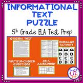 ELA Test Prep - Informational Text Puzzle