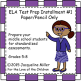 ELA Test Prep Installment #1: Paper/Pencil Only:Hansel and Gretel